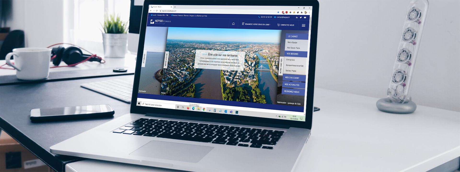 Lancement du nouveau site internet NEPSIO Conseil